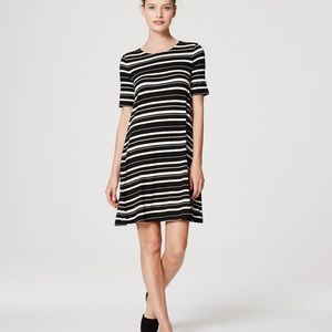 LOFT swing dress in stripe